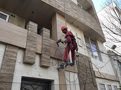 ترمیم سنگ نما - خدمات سنگ نما - تعمیر سنگ نما - بازسازی سنگ نما -تعمیر سنگ نمای ساختمان در تهران